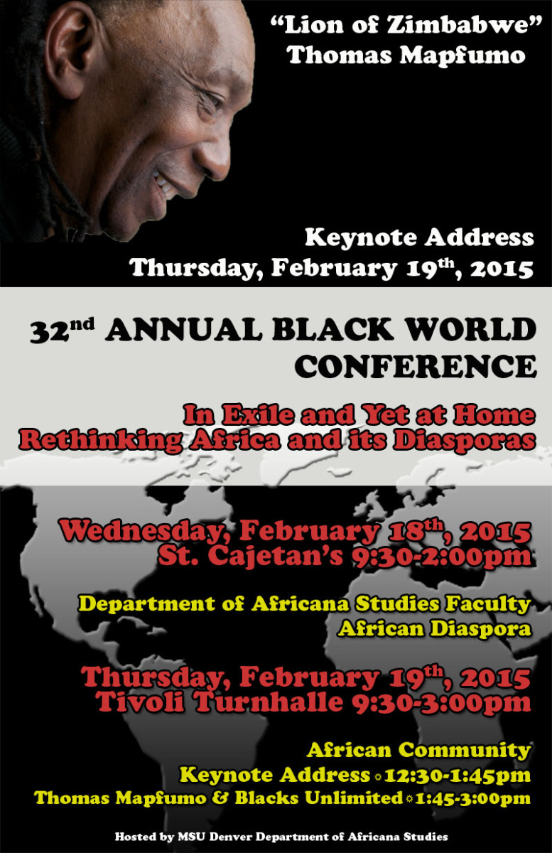 32 Annual Black World Conference Poster - Denver University
